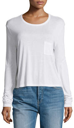 Alexander Wang Classic Cropped Long-Sleeve Tee