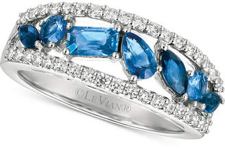 LeVian Le Vian Sapphire (1 ct. t.w.) and Diamond (3/8 ct. t.w.) Ring in 14k White Gold, Created for Macy's