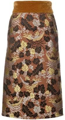 Jill Stuart floral jacquard pencil skirt