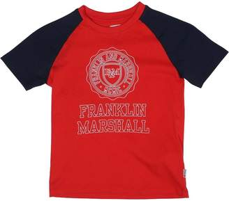 Franklin & Marshall Boys Contrast Sleeve T-Shirt Letterbox Red
