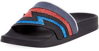 Balmain Calypso Flash Leather Sandal