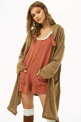 Forever 21 French Terry Drape-Front Cardigan