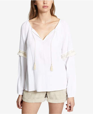 Sanctuary Yucca Cotton Textured Tasseled Top