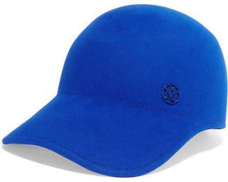 Maison Michel Rabbit-felt Baseball Cap - Blue