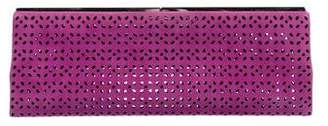 Jimmy Choo Perforated Suede Clutch