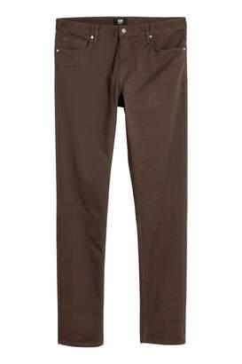 H&M Twill Pants Skinny fit - Black - Men