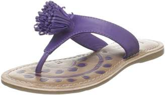Academie Pom Pom Too Leather Thong Sandal (Toddler/Little Kid/Big Kid)