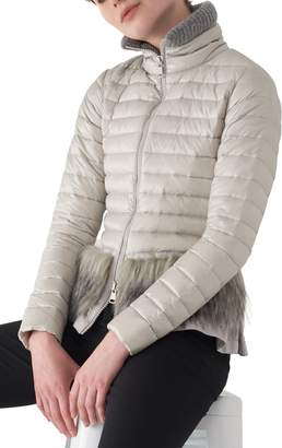 Sosken Bev Lightweight Down Puffer Jacket with Faux Fur Trim