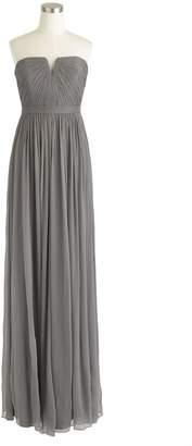 J.Crew Nadia long dress in silk chiffon