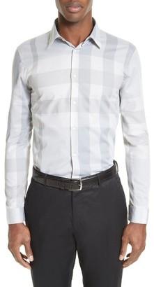 Men's Burberry London 'Southbrook' Trim Fit Plaid Sport Shirt $350 thestylecure.com