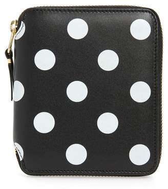 Comme des Garcons Dots Printed Leather Line Wallet