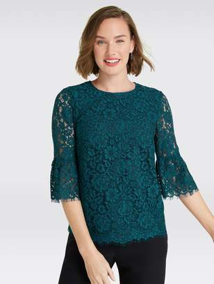 Draper James Lace Bell-Sleeve Blouse