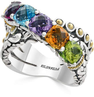 Effy Balissima by Multi-Gemstone Statement Ring (4 ct. t.w.) in Sterling Silver and 18k Gold