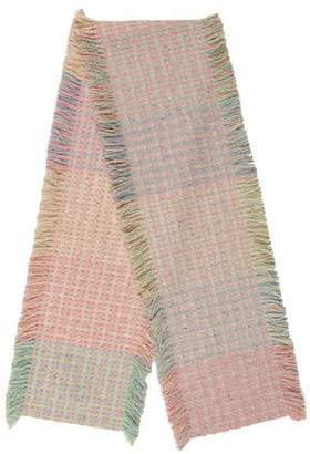 Burberry Cashmere Fringe-Trimmed Scarf w/ Tags