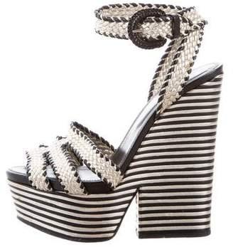 Sergio Rossi Leathrr Ankle-Strap Sandals