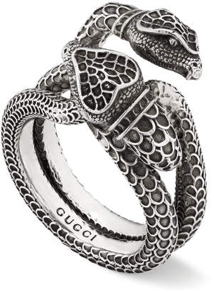 c2490687f Gucci Men's Engraved Snake Ring, Size 10.5