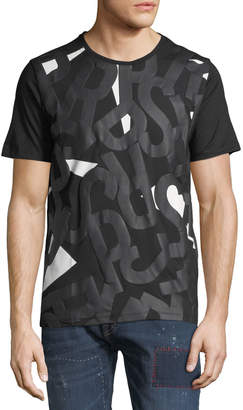 PRPS Men's Puffy Logo Graphic Front T-Shirt