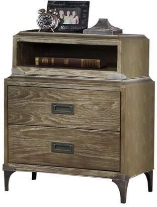 ACME Furniture Athouman Weathered Oak Nightstand with USB Power Dock