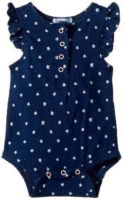 Splendid Littles Always Indigo Bodysuit with Star Print Girl's Jumpsuit & Rompers One Piece