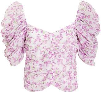 Caroline Constas Silk Floral Blouse