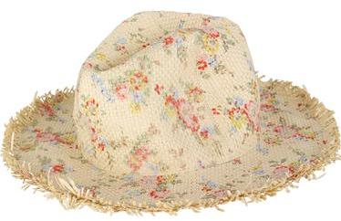 Bleached Flowers Straw Hat