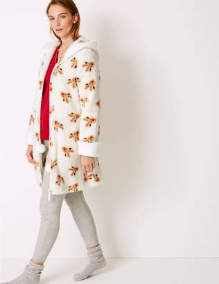 Marks and Spencer Textured Reindeer Print Dressing Gown