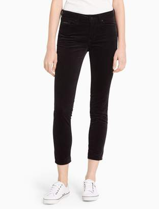 Calvin Klein skinny velvet high-rise ankle jeans
