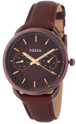 Fossil Women's Tailor Leather Strap Watch, 34mm