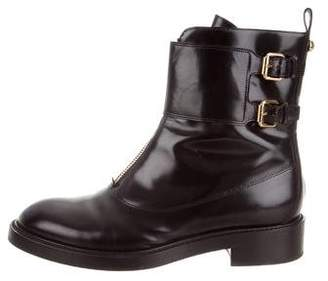 Louis Vuitton Round-Toe Combat Ankle Boots