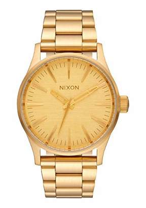 Nixon Sentry 38 SS A450502-00. Men's Watch (42mm Gold Watch Case. 23-20mm Gold Stainless Steel Band)