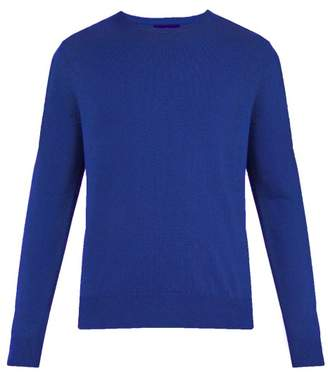 Allude Crew Neck Cashmere Sweater - Mens - Blue