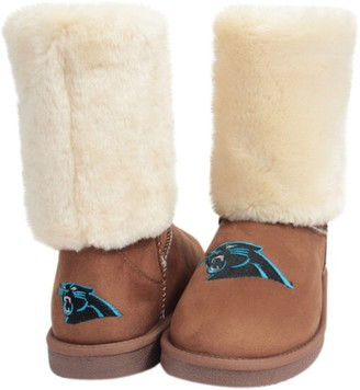 Unbranded Women's Cuce Tan Carolina Panthers Fan Boot
