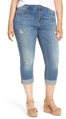 Melissa McCarthy Stretch Crop Girlfriend Jeans