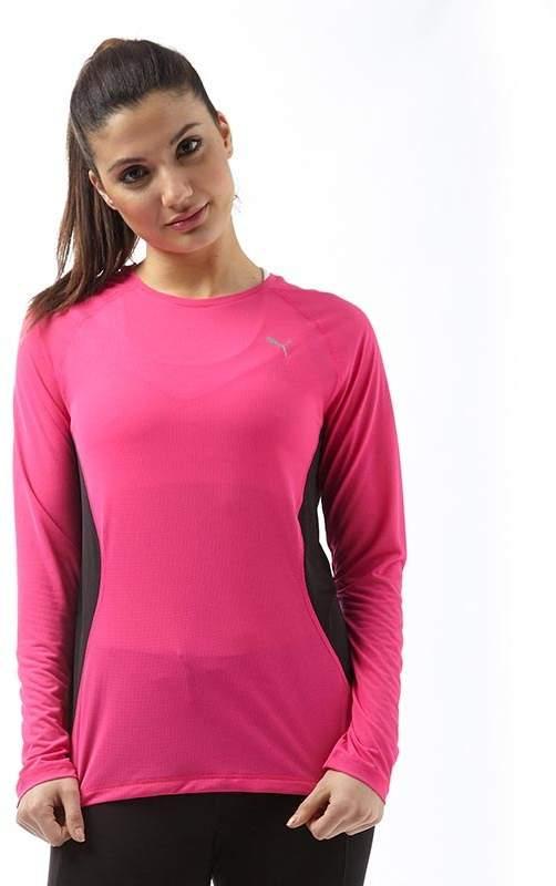 Damen Core Run DryCELL Lauftop mit langem Arm Rosa