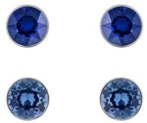Swarovski Set of Two Americas Madyson Blue Cystal Stud Earrings