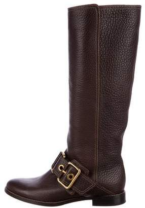 Dolce & Gabbana Leather Knee-High Boots