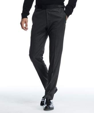 Todd Snyder Black Label Sutton Tuxedo Pant in Italian Olive Wool Flannel