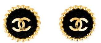 Chanel Velvet CC Clip-On Earrings