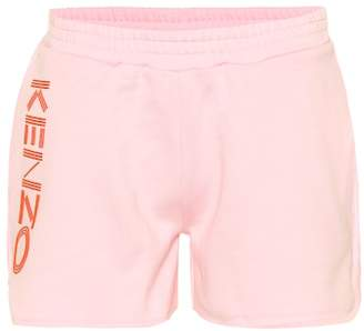 Kenzo Printed cotton-fleece shorts