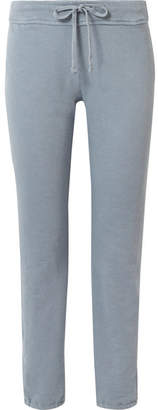 James Perse Genie Supima Cotton-terry Track Pants - Light blue
