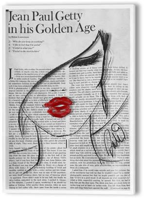 Oliver Gal Fashionista Lunaire On Plexiglas In Shadow Box Frame