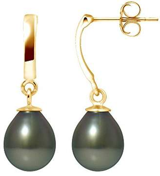 Pearls &Colors Pendant Earrings White Gold 9 Carats with Freshwater pearl, Tahitian 9BOT12-PC