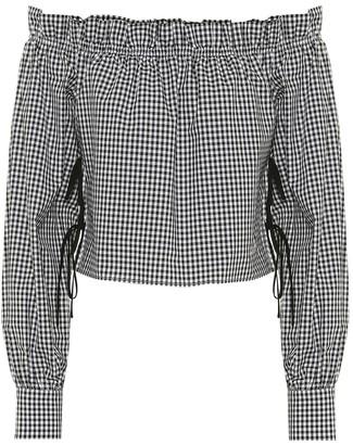 Miu Miu Off-the-shoulder cotton blouse