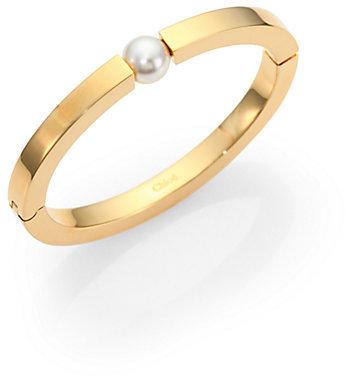 Chloé Darcey Faux Pearl Bangle Bracelet
