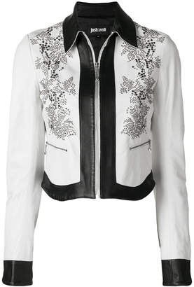 Just Cavalli monochrome bead detail jacket