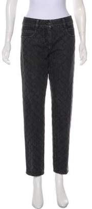 Chanel Quilted Mid-Rise Jeans Grey Quilted Mid-Rise Jeans