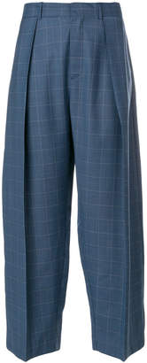 Diesel Black Gold checked wide leg trousers