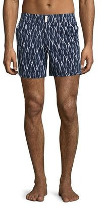 Vilebrequin Superflex Emperor Penguins Merise Swim Trunks, Navy $280 thestylecure.com