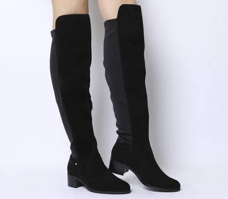 4ef0a7ebc49 Office Kite Stretch Back Over The Knee Boots Black Suede