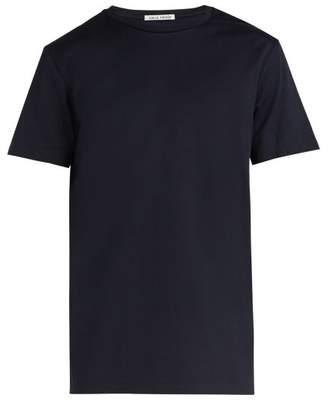Privee Salle Salle Lothar Cotton T Shirt - Mens - Dark Blue